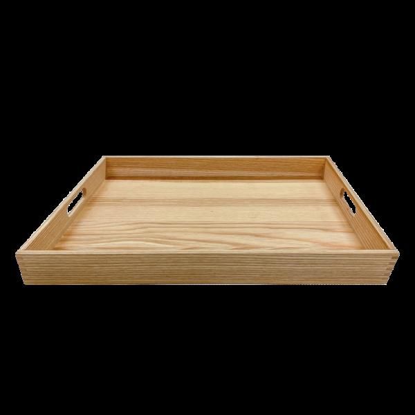 Serviertablett L – Basic, Esche – 50 x 33 x 4.5 – Vorderseite