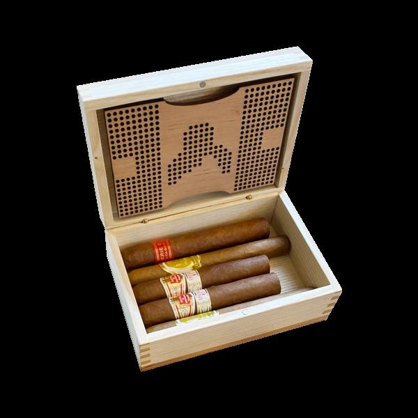 Geschenkset Surprise, NaniTravelhumi S + 5 Zigarren