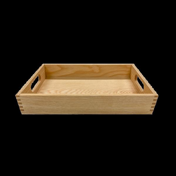 Serviertablett S – Basic, Esche – 30 x 20 x 4.5 – Vorderseite