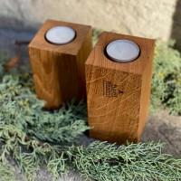 2er-Set Hohe Kerzenständer – 2in1, Basic 7 x 7 x 12 / 14 cm