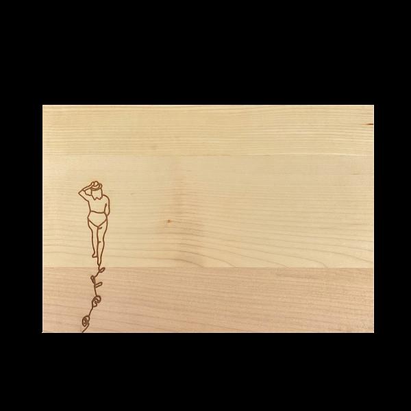 Holz Schneidebrett Strandspaziergang Ahorn